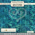 Flutterby Everyday Repeat Patterns #19 Damask Blue
