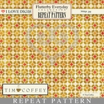 Flutterby Everyday Repeat Patterns #24 Geometric Gold