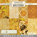 Flutterby Fall Repeat Patterns #1 - 8