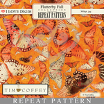 Flutterby Fall Repeat Pattern #19 Butterflies