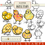 Easter Peeps Digital Stamps