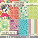 Flutterby Spring Repeat Patterns #1-8