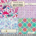 Flutterby Spring Repeat Patterns #9-12