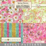 Spring Daisies Repeat Patterns #9-12