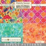 Flutterby Summer Repeat Patterns #9-12