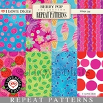 Berry Pop Repeat Patterns #1 - 8