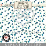Berry Pop Repeat Pattern #9 Blueberries
