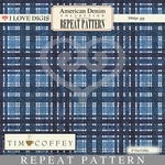 American Denim Repeat Patterns #15 - Blue Plaid
