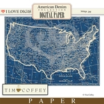 American Denim Digital Paper Map #1