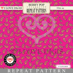 Berry Pop Repeat Pattern #15 Paisley Raspberry