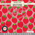Berry Pop Repeat Pattern #16 Strawberries