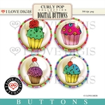 Curly Pop Buttons #2