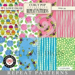 Curly Pop Repeat Patterns #1 - 8