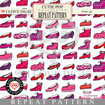 Cutie Pop Repeat Pattern #10 Shoes