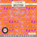 Cutie Pop Repeat Pattern #11 Bows
