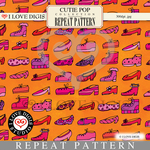 Cutie Pop Repeat Pattern #12 Shoes